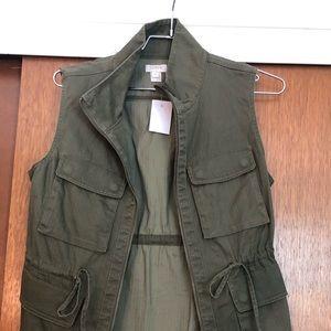 J. Crew Factory Fatigue Green Vest